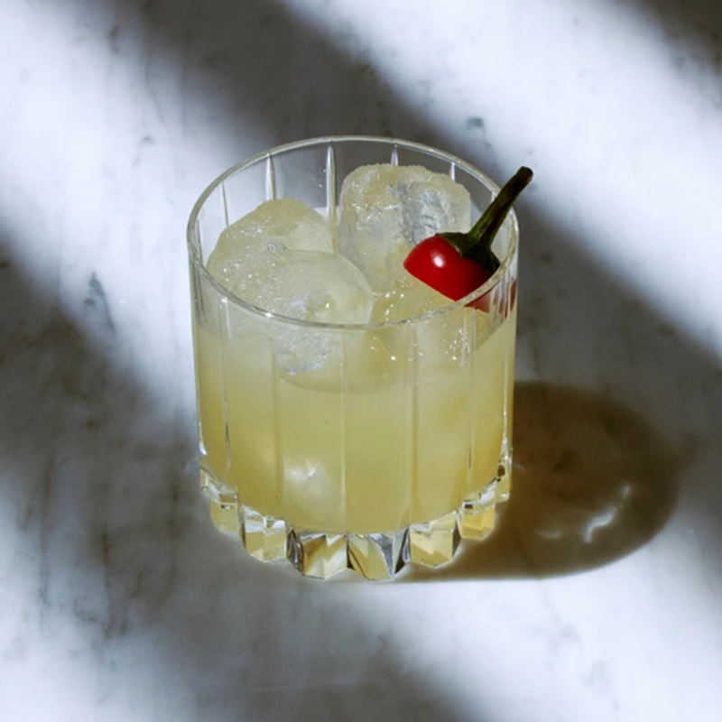 A cocktail drink